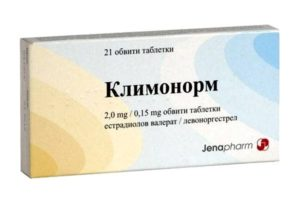 упаковка таблеток климонорм