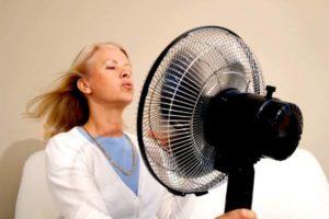 дама у вентилятора