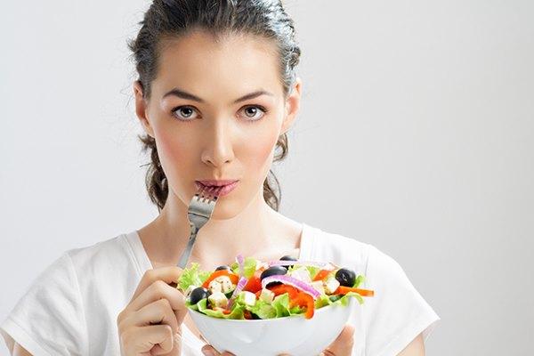 употребление свежих овощей