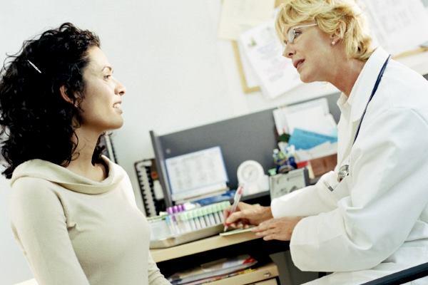 обследование пациентки