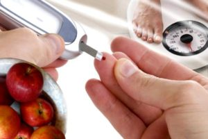 процесс забора крови для глюкометра