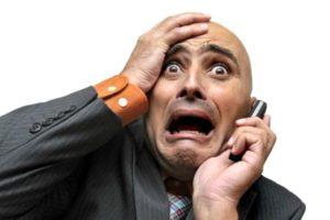 мужик в ужасе орет по телефону